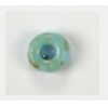 Glass Cut Crowbead 9mm Turquoise